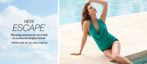 New Escape Slimming swimwear for every body by our favorite designer brands. Swim now in all boutiques