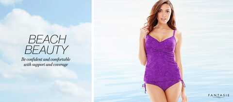 Beach Beauty Be confident and comfortable with support and coverage