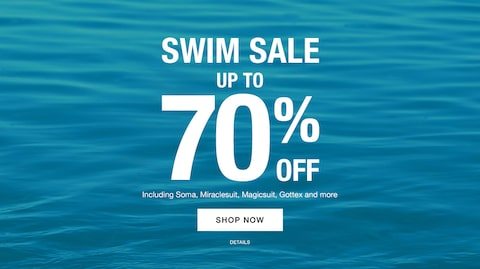 Swim Sale up to 70% off. | Including Soma, Miraclesuit, Magicsuit, Gottex and more. | Shop Now.