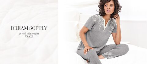 Dream Softly in cool, silky comfort. | XS-XXL.