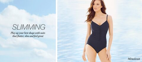 Slimming. | Play up your best shape with suits that flatter, slim and feel great