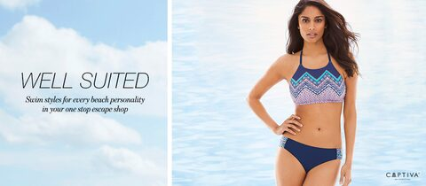 Well Suited. | Swim styles for every beach personality in your one stop escape shop.