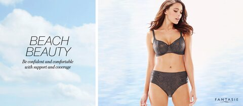 Beach Beauty. | Be confident and comfortable with support and coverage.