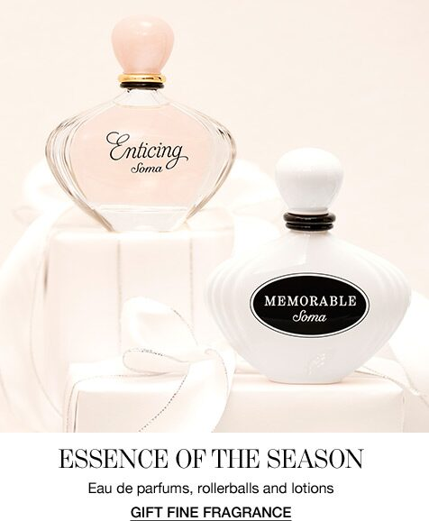 Essence of the Season. Eau de parfums, rollerballs and lotions. Gift Fine Fragrance.