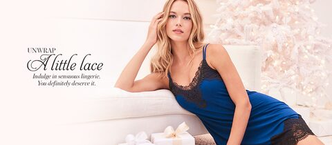 Unwrap A Little Lace. Indulge in sensuous lingerie. You definitely deserve it.