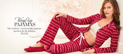 Wrap Up Pajamas. Our exclusive, coziest-weight pajamas, just here for the holidays. XS-XXL.