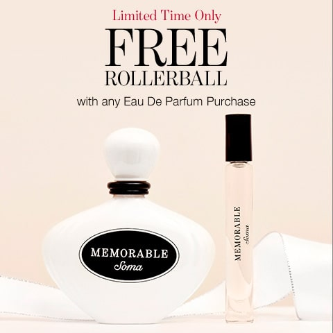 Limited Time Only. Free Rollerball with any Eau De Parfum Purchase.
