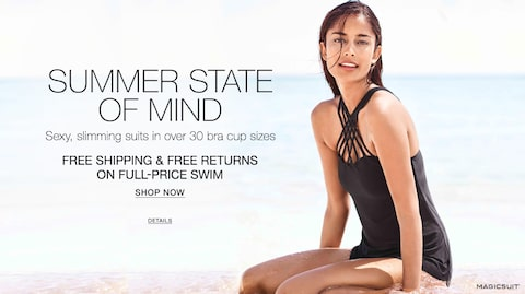 Summer state of mind. Sexy, slimming suits in over 30 bra cup sizes. Free Shipping & free Returns on full-price Swim. Shop now.