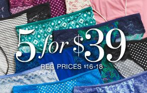 5 for $39 Reg prices $16-18