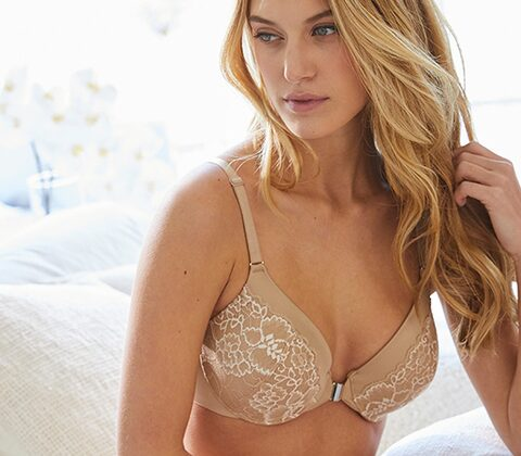 Full Coverage Front Close Racerback Bra at Soma Intimates in Sherman Oaks, CA | Tuggl