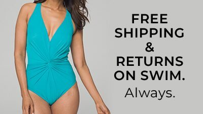 Free Shipping and Free Returns On Swim. Always