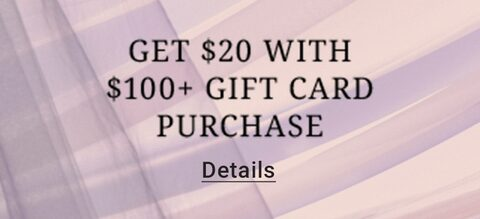 Get $20 With $100+ Gift Card Purchase