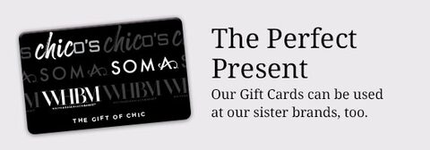 The Perfect Present. Our Gift Cards can be used at our sister brands, too.