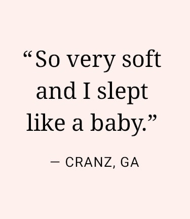 So very soft and I slept like a baby. Cranz, GA