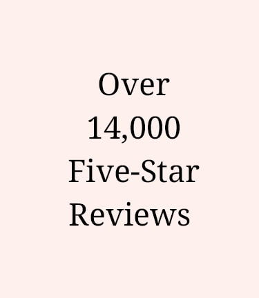 Over 14,000 five-star reviews