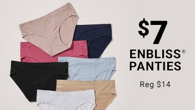 $7 enbliss panties, registered, REG $14